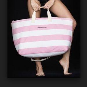 Victoria's Secret Pink/White Striped Weekender